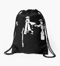 Psycho Fiction Drawstring Bag