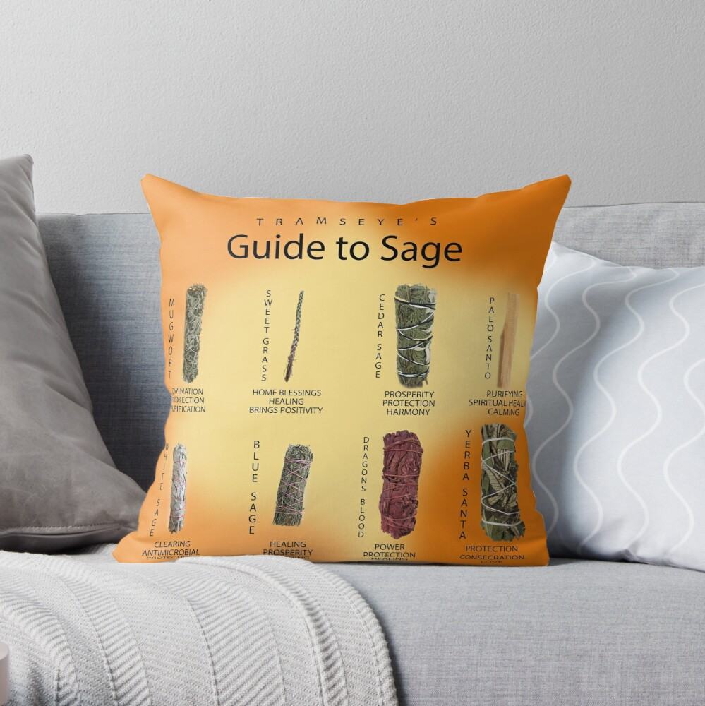 Sage Guide Throw Pillow