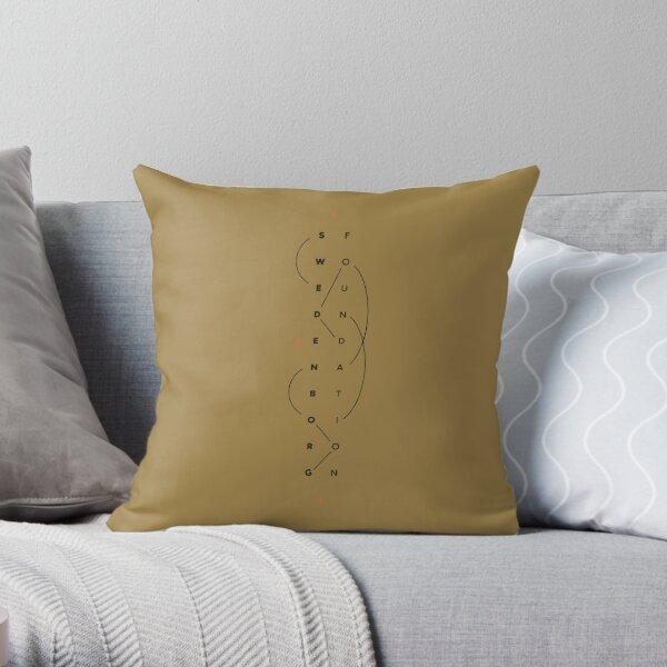 """Swedenborg Foundation """"FOIL Design"""" Throw Pillow"""