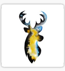 Stag Watercolour Sticker