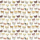 Cats in Glasses Pattern by Ryan Conners