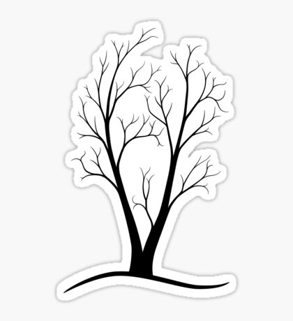 A Two-trunked Tree Sticker