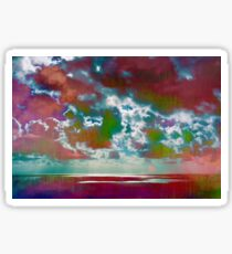 Pink Seas and Clouds Sticker