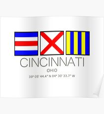 CINCINNATI, OHIO Nautical Flag Art Poster