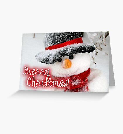 Merry Xmas - Snowman 06 Greeting Card