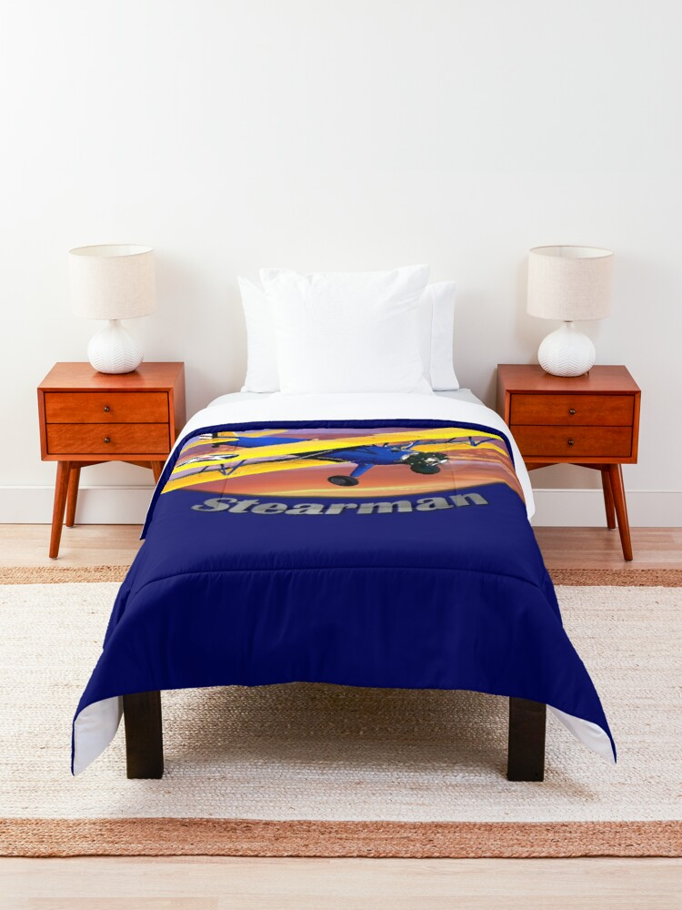 Alternate view of Stearman Biplane King Of The Sky Comforter