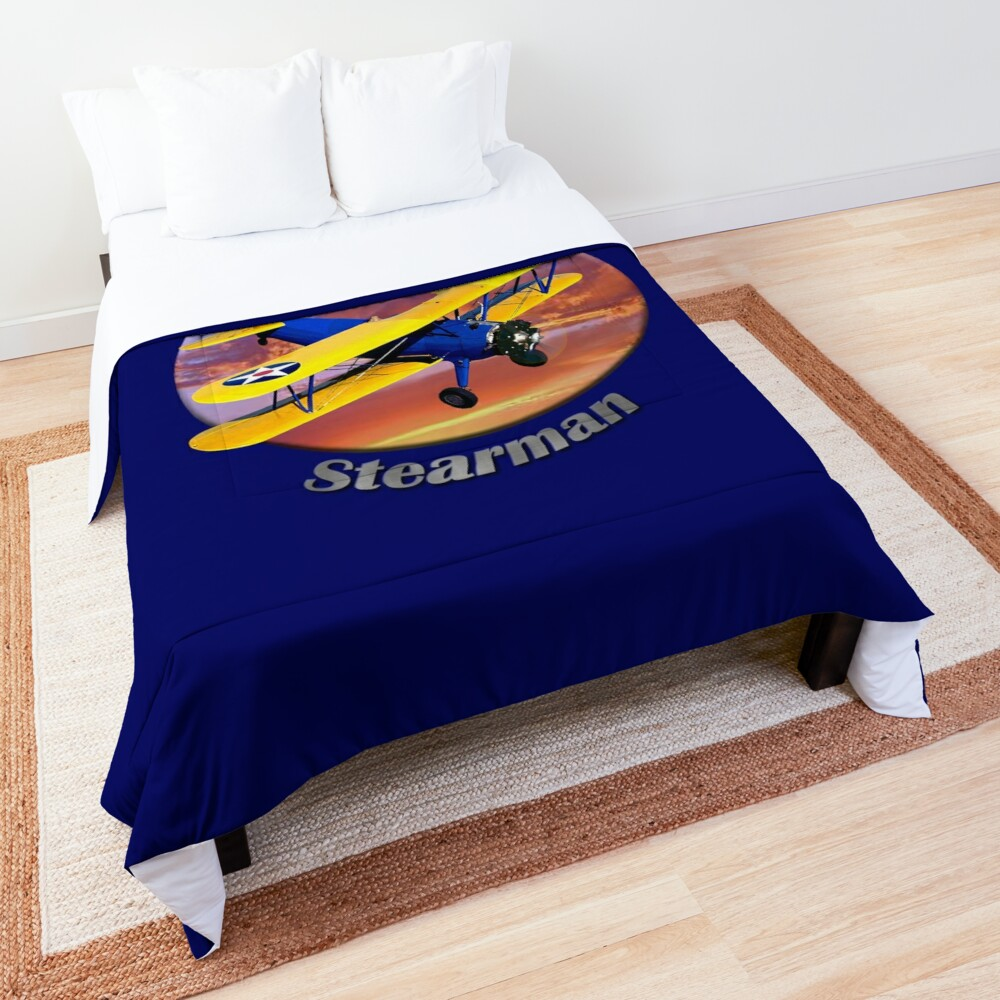 Stearman Biplane King Of The Sky Comforter