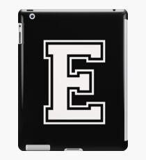 Letter - E (white) iPad Case/Skin