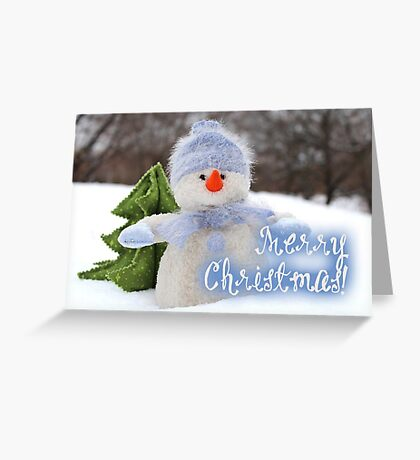 Merry Xmas - Snowman 09 Greeting Card