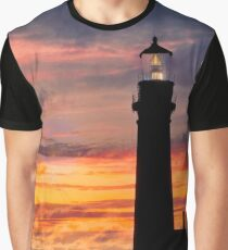 Newport Oregon - Setting Sun Graphic T-Shirt
