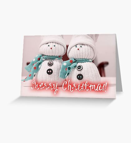 Merry Xmas - Snowman 10 Greeting Card