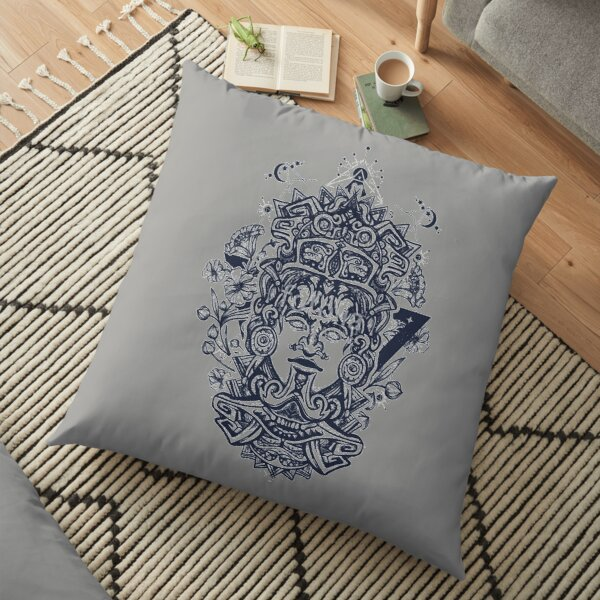 Aztec Mayan Empire Ancient Mexican Culture Civilization Art Floor Pillow
