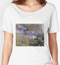 Claude Monet - Bordighera 1884  Impressionism . Famous paintings Women's Relaxed Fit T-Shirt