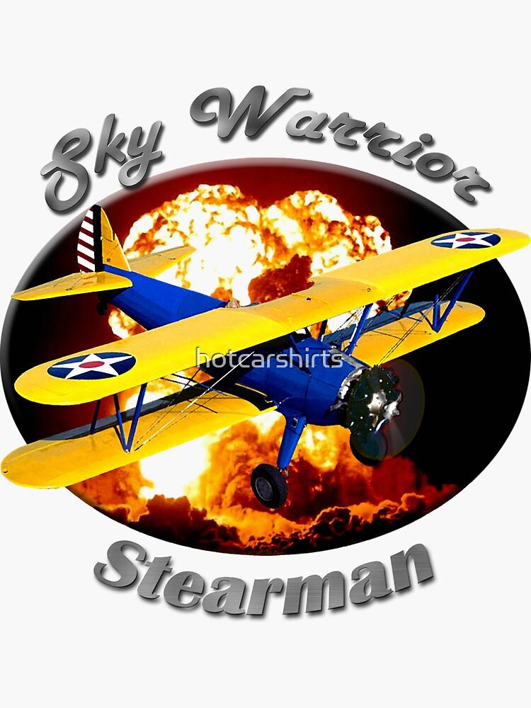 Stearman Biplane Sky Warrior by hotcarshirts