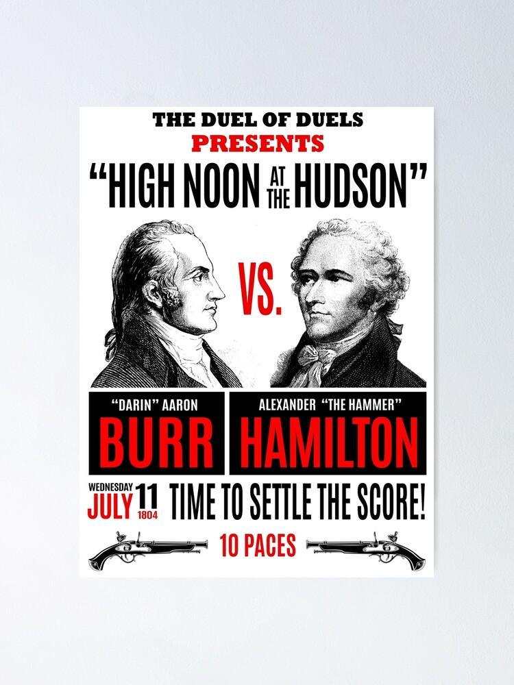 Alternate view of Burr vs Hamilton History Poster