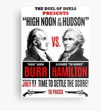 Burr vs Hamilton History Metal Print