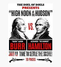 Burr vs Hamilton History Photographic Print