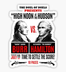 Burr vs Hamilton History Sticker