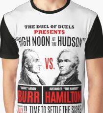 Burr vs Hamilton History Graphic T-Shirt