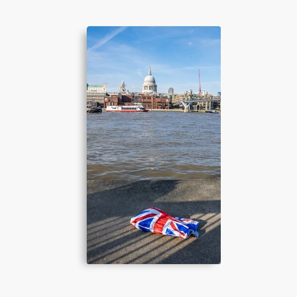 London Union Jack plastic bag Canvas Print