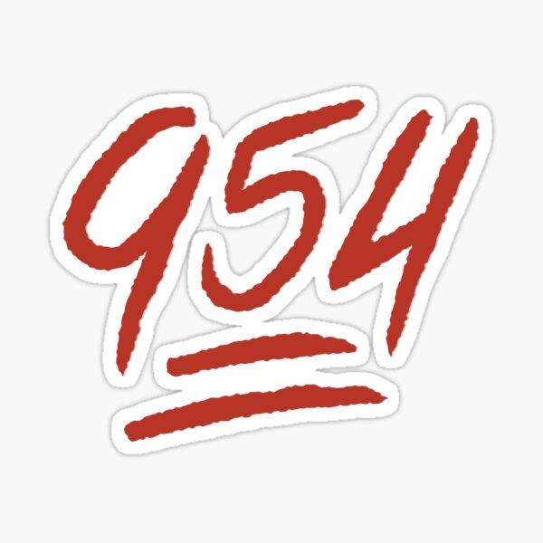 "954 Emoji"" Sticker by caseydesigns | Redbubble"
