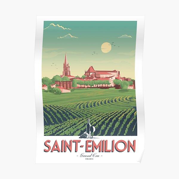 Saint-Emilion retro poster Poster