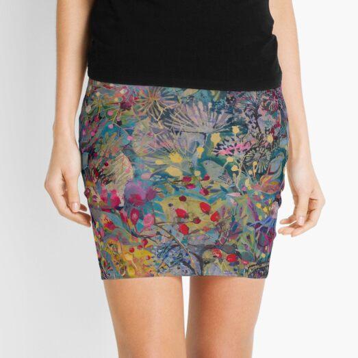 Birds and Rosehips Mini Skirt