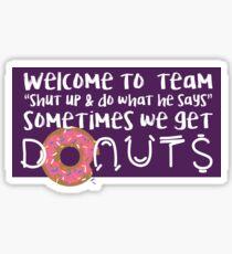 Team Donuts Sticker