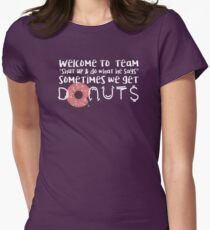 Team Donuts Women's Fitted T-Shirt