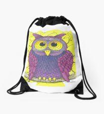 Howlin' Owl Sings The Blues Drawstring Bag