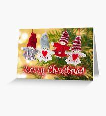 Merry Xmas - Felt & knitting 04 Greeting Card