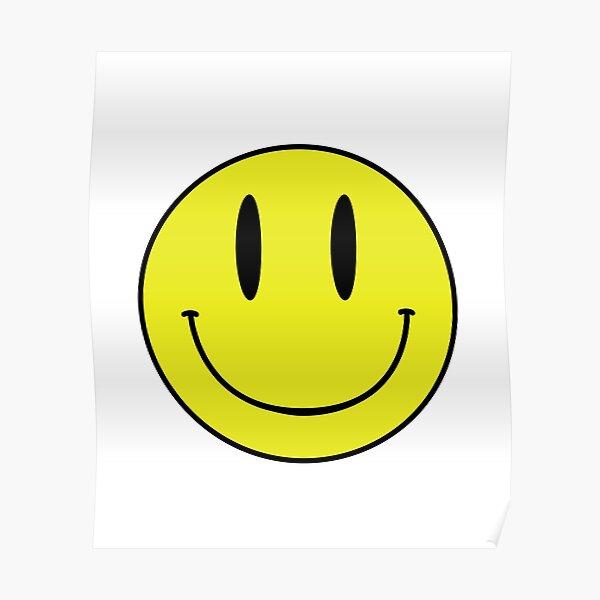 ACID MAN SMILEY FACE EMOJI  90's Rave 80's Acid House Grunge  Poster