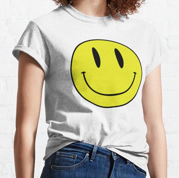 ACID MAN SMILEY FACE EMOJI  90's Rave 80's Acid House Grunge  Classic T-Shirt