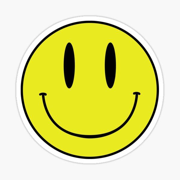 ACID MAN SMILEY FACE EMOJI  90's Rave 80's Acid House Grunge  Sticker