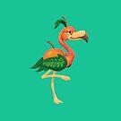 Peach Flamingo by JordanMDalton