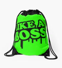 like a boss Drawstring Bag