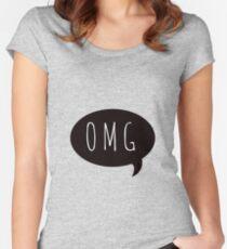 omg speechbubble Women's Fitted Scoop T-Shirt