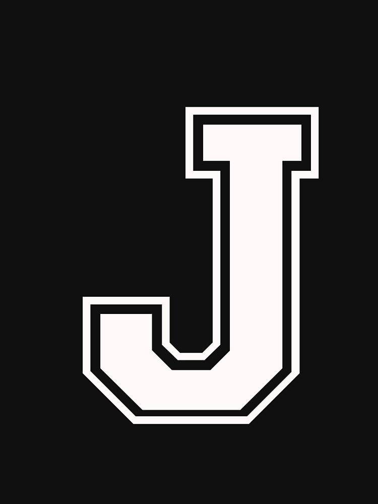 Letter J White Unisex T Shirt By Alphaletters Redbubble