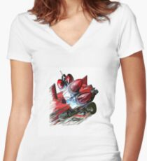 Rocketfunk Women's Fitted V-Neck T-Shirt