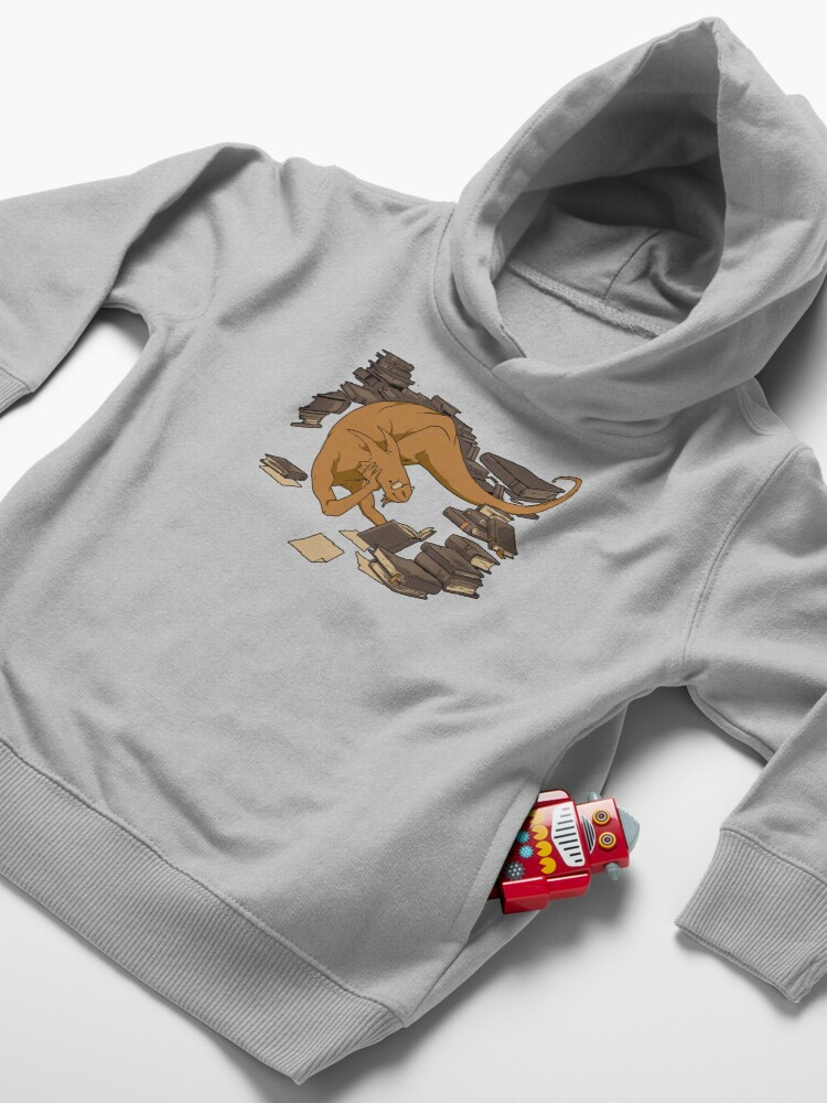 Alternate view of The Book Wyrm Toddler Pullover Hoodie