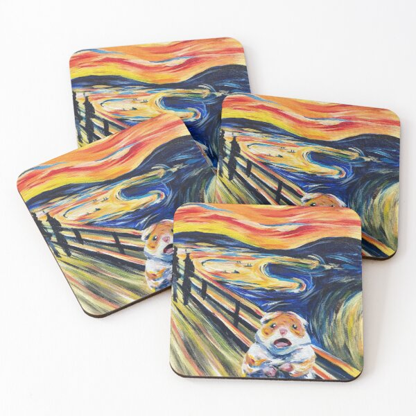 The Screaming Hamster Coasters (Set of 4)