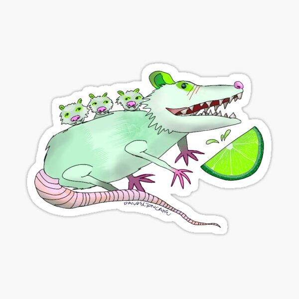 Lime possum Sticker