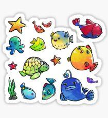 Pez globo kawaii dibujo pegatinas redbubble for Pegatinas de peces