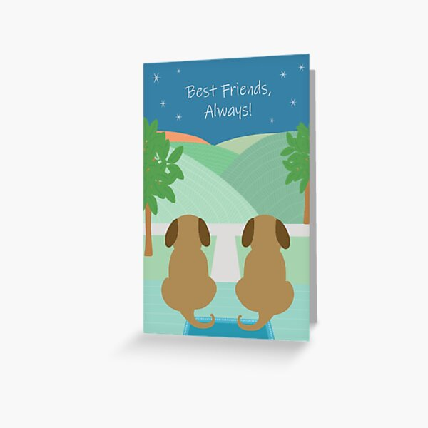 Best Friend Dogs Greeting Card
