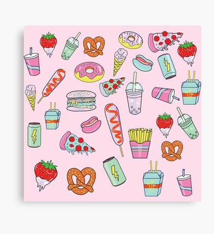 Dreaming Of Junk Food Canvas Print