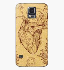 Pattern of heart, clockwork and key in steampunk style Case/Skin for Samsung Galaxy