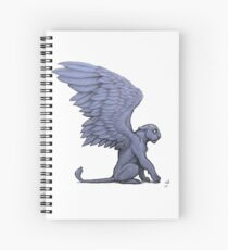 Winged Lioness Spiral Notebook