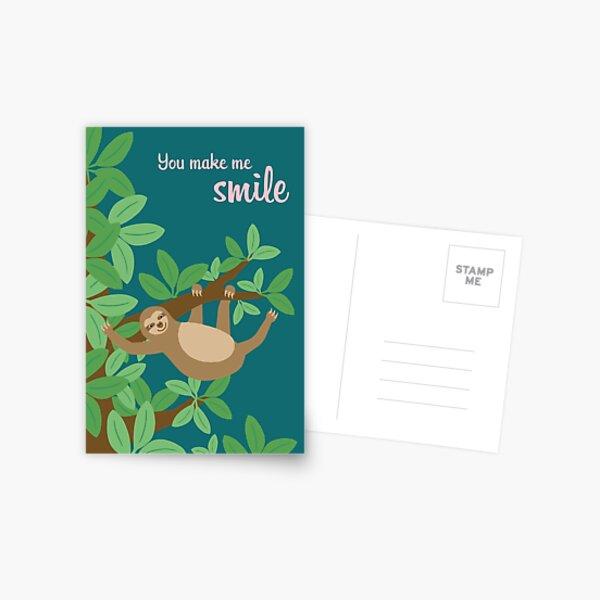 Smiling Sloth Postcard