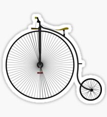 Old Victorian Penny Farthing graphic art Sticker