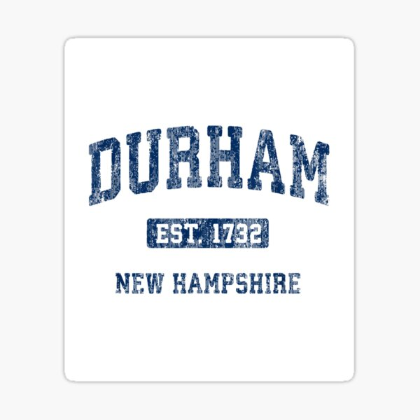 Durham New Hampshire NH Vintage Athletic Sports Design Sticker